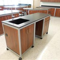 Modular Millwork demo sink station in classroom laboratory