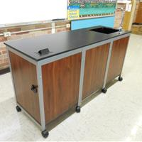 Back of Modular Millwork demo sink station in classroom laboratory