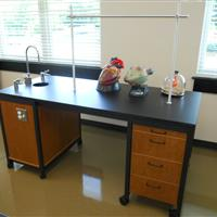 Single Modular Millwork demo sink station in classroom laboratory with drawers