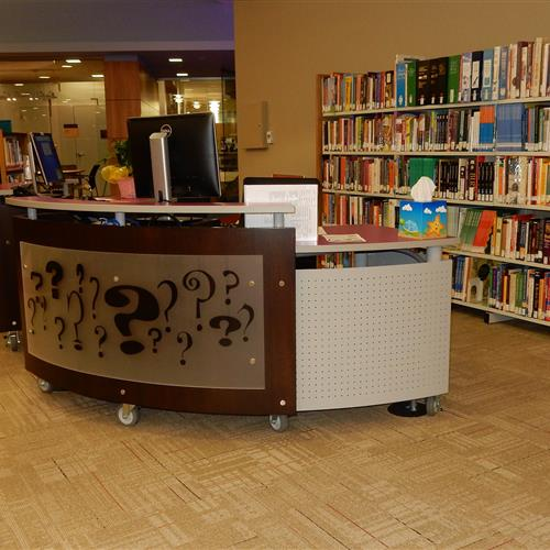 Mobile workstation in a library