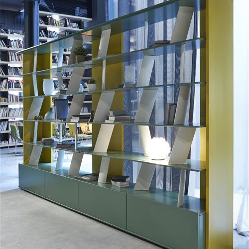 Shelving with unique dividers