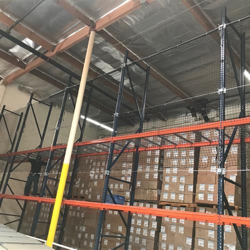 Safety Netting for Pallet Rack