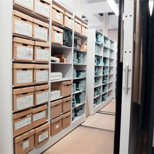 Compact shelving provides archive storage solutions