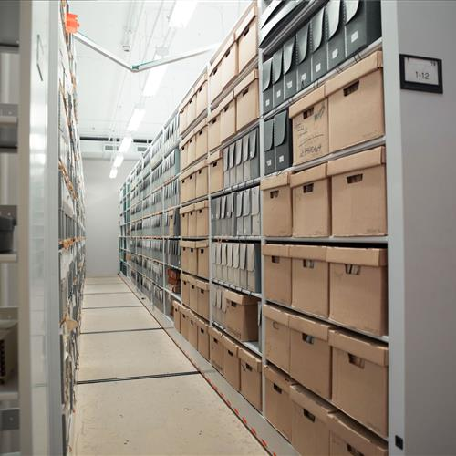 Archival storage at Texas state library
