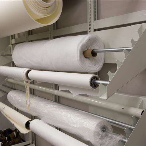 Texas state library textile racks