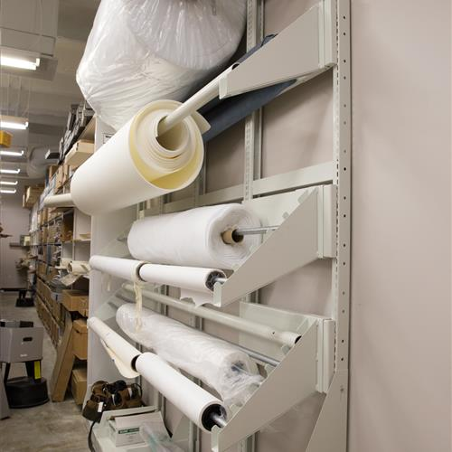 Textile racks at Texas state library and archives