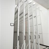 Art racks at Texas state university