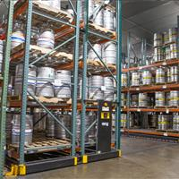 Warehouse mobile storage solutions for keg storage