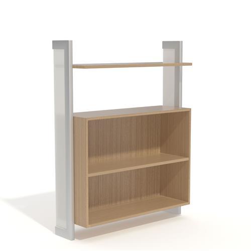 Display with box storage units