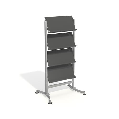 Display stand for magazines and other paper items