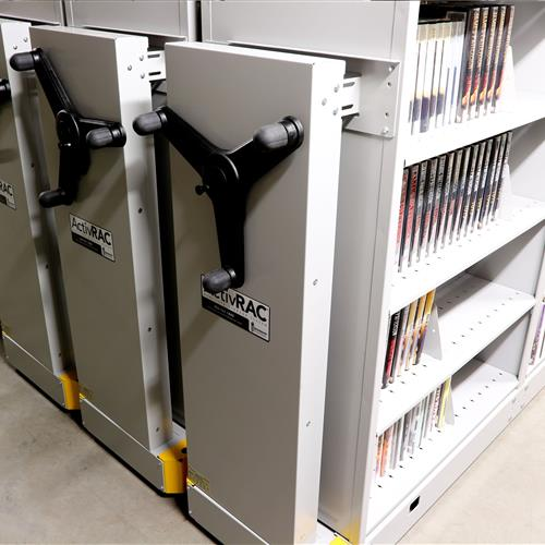 Organized library archival storage system