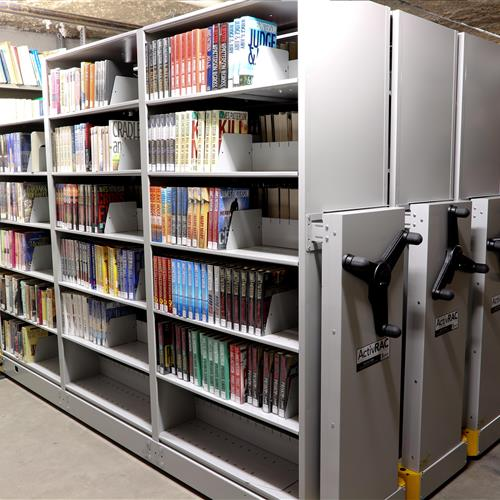 Compact mobile storage system at Central Arkansas library system