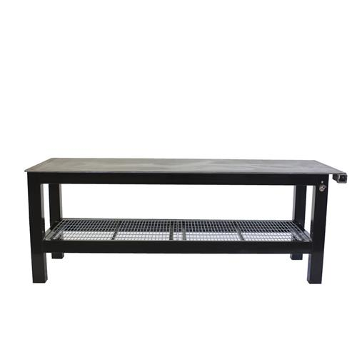Long black welding table