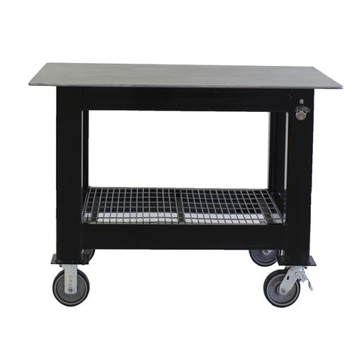 Small square welding table on casters