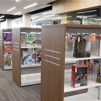 Library carts store magazines