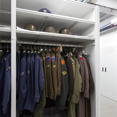 Military Uniform preservation on mobile storage system