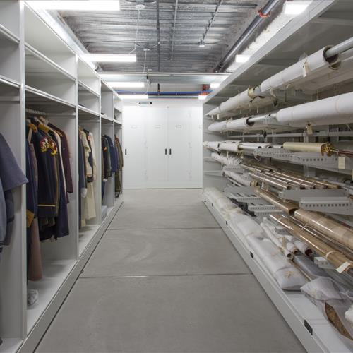 Preserved garments and textile racks