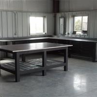 Welding table in workroom