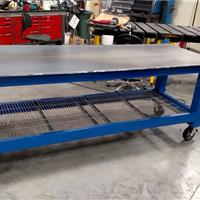 Blue welding table
