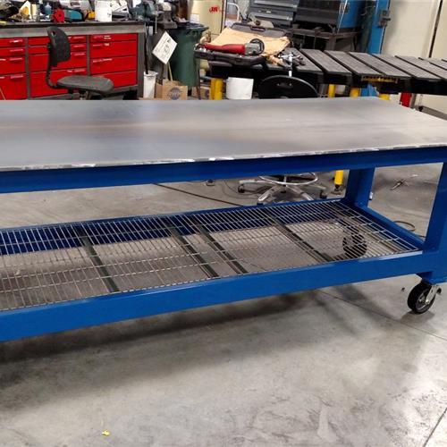 Blue welding table