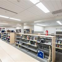 Weber State Library Static Cantilever Shelving