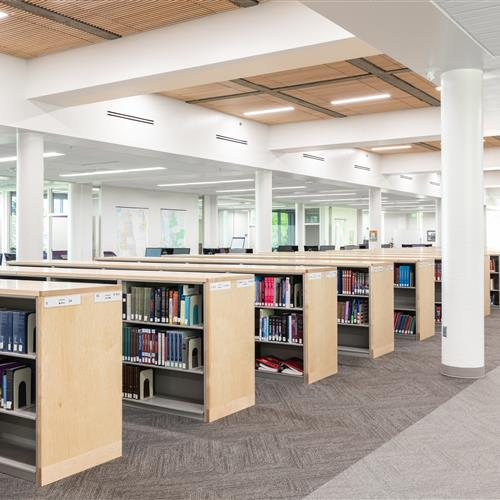 Weber State University Custom Library Shelving