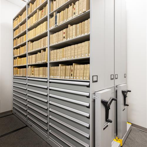 Weber State University Heavy Duty Mobile Shelving