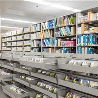 Weber State University Library Display Shelving