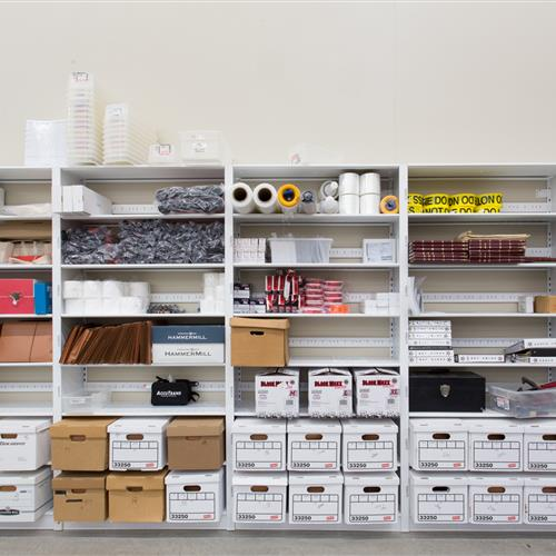 Organized storage makes finding what you need easier