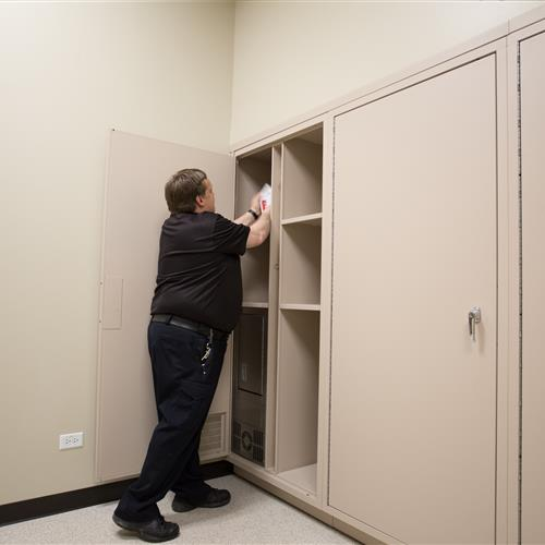 Secure the chain of custody with pass through lockers
