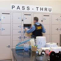Pass through evidence lockers secure the chain of custody