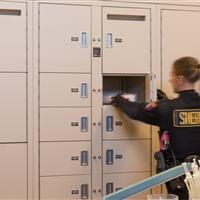 Labeled evidence is secure in Pass through lockers