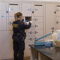 Evidence storage to ensure the chain of custody