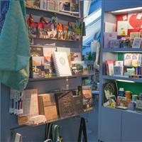 Mobile shelving gift shop
