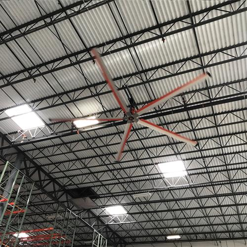 Z-tech industrial facility fan in warehouse