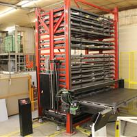 Fully loaded bar stock vertical lift system