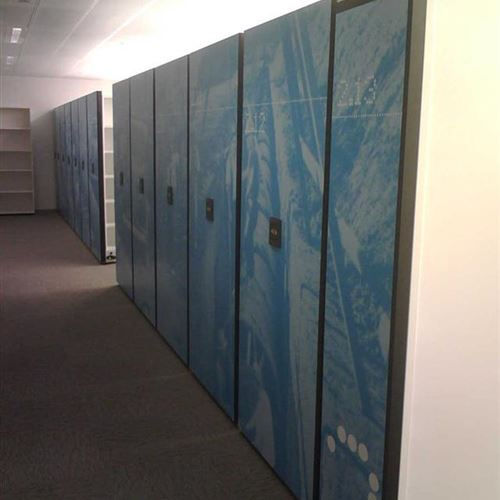 Powered Mobile Shelving at Sydney Water HQ in Parramatta, Australia