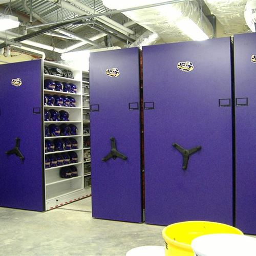 Baseball Equipment Room with Mobile System at LSU