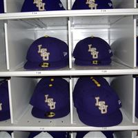 Baseball Hat Storage in Cubbies at LSU