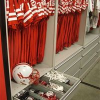 Football Equipment Storage at University of Nebraska