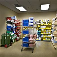 Sterile Supply Storage in Clean Utility Room at the Atrium Medical Center