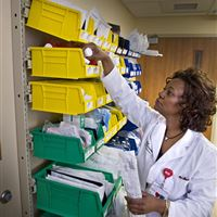 Sterile Supply Storage in Clean Utility Rooms at Atrium Medical Center