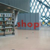 Gift Shop at the Seattle Public Library Created with Mobile Shelving