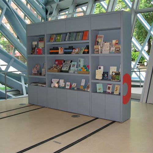 Open Gift Shop at the Seattle Public Library Created with Mobile Shelving