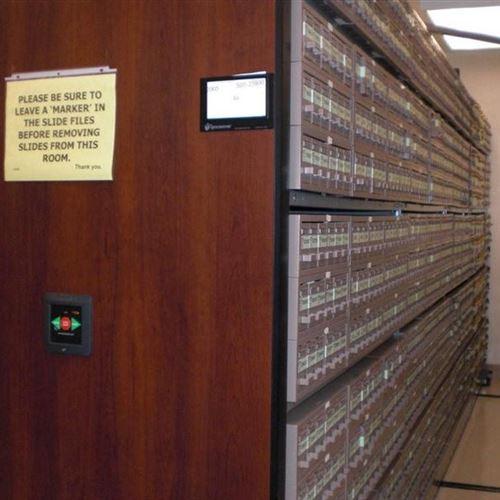 Pathology Slide and Block Storage on Powered Mobile Storage System