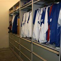 Hanging Jersey Storage on Mobile System at University of Kansas