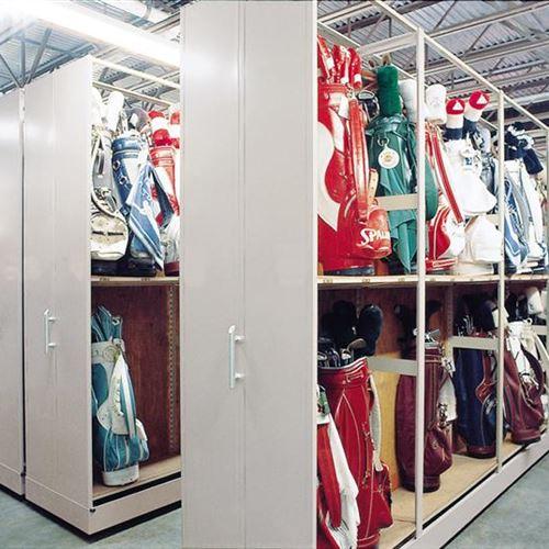Manual Mobile Golf Bag Storage