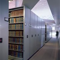 Powered Mobile Shelving for Library Book Storage at Seattle Public Library