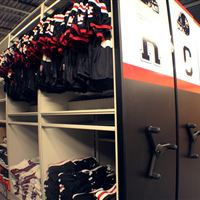 Winston Churchill Mobile System Storing Hanging Jerseys and Football Cleats