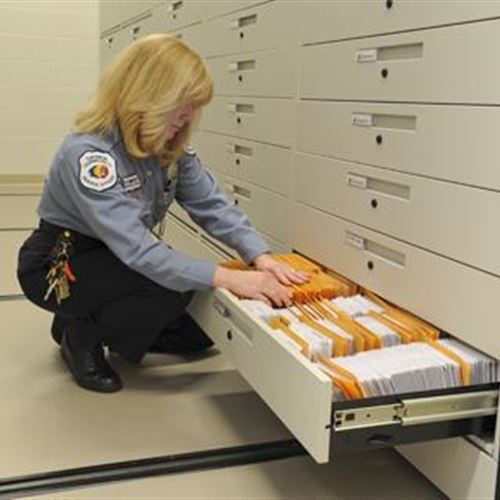Long-Term Evidence Storage on Mechanical-Assist Mobile Shelving
